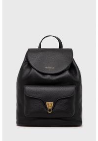 Coccinelle - Plecak skórzany Beat Soft. Kolor: czarny. Materiał: skóra