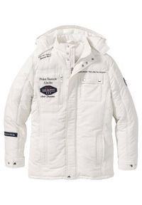 Biała kurtka bonprix na zimę