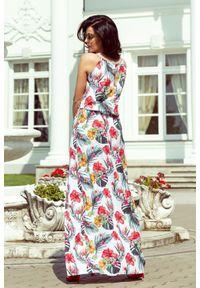 Sukienka Numoco na imprezę, maxi, na lato, w kwiaty