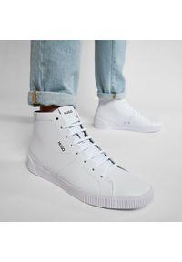 Hugo - Sneakersy HUGO - Zero 50445727 10228535 01 White 100. Okazja: na co dzień. Kolor: biały. Materiał: skóra ekologiczna, materiał. Szerokość cholewki: normalna. Styl: klasyczny, sportowy, casual