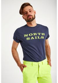 North Sails - T-SHIRT NORTH SAILS. Materiał: bawełna. Długość: krótkie. Wzór: nadruk