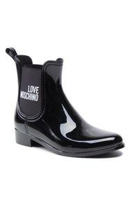 Love Moschino - Kalosze LOVE MOSCHINO - JA21173G1DIR3000 Nero. Okazja: do pracy, na spacer, na co dzień. Kolor: czarny. Materiał: materiał. Szerokość cholewki: normalna. Sezon: zima, jesień. Styl: casual