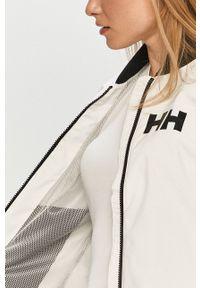 Biała kurtka Helly Hansen casualowa, z nadrukiem, na co dzień