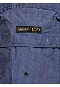 Superdry Szorty materiałowe Ult Cargo M7110210A Granatowy Regular Fit. Kolor: niebieski. Materiał: materiał #4