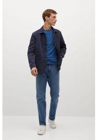 Niebieski sweter Mango Man casualowy, z długim rękawem, na co dzień