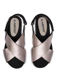 Złote sandały Karino casualowe, na co dzień #6