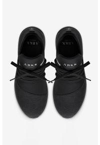 Czarne buty sportowe ARKK Copenhagen na średnim obcasie, na sznurówki