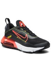 Nike - Buty NIKE - Air Max 2090 (Gs) CJ4066 010 Dk Smoke Grey/Bright Crimson. Okazja: na uczelnię, na spacer. Kolor: czarny. Materiał: materiał. Szerokość cholewki: normalna