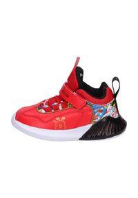 American Club - Sportowe buty dziecięce AMERICAN BD05/21 RD. Kolor: czerwony. Materiał: skóra