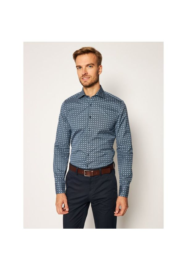 Niebieska koszula casual Stenströms