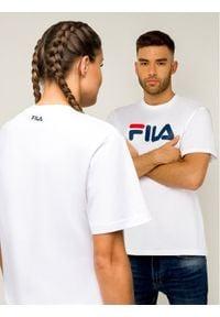 Fila T-Shirt Unisex 681093 Biały Regular Fit. Kolor: biały