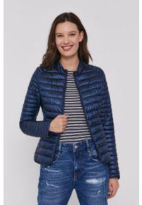 Niebieska kurtka Bomboogie na co dzień, casualowa, gładkie