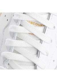 Białe półbuty Adidas na co dzień, z cholewką, casualowe