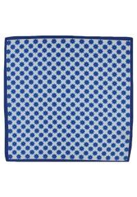 Niebieska poszetka Chattier w grochy