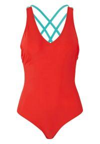 Kostium kąpielowy bonprix czerwono-miętowy. Kolor: czerwony