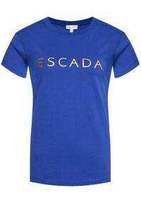 Niebieski t-shirt Escada Sport sportowy