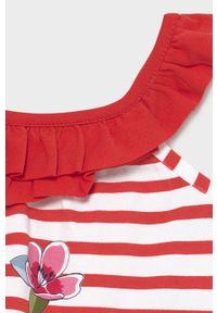 Czerwona sukienka Mayoral na ramiączkach, trapezowa