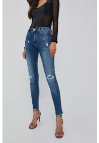 Guess - Jeansy Sexy Curve. Kolor: niebieski