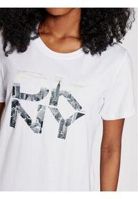 DKNY Sport T-Shirt DP1T8009 Biały Regular Fit. Kolor: biały. Styl: sportowy