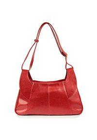 Czerwona torebka DAN-A w kolorowe wzory