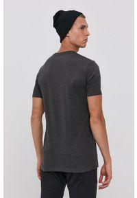 !SOLID - T-shirt bawełniany. Okazja: na co dzień. Kolor: szary. Materiał: bawełna. Wzór: gładki. Styl: casual