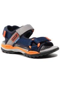 Geox - Sandały GEOX - J Borealis B. A J150RA 01511 CA34B S Navy/Orange. Kolor: niebieski. Materiał: materiał. Sezon: lato. Styl: klasyczny