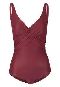 Fioletowy strój kąpielowy bonprix z wyjmowanymi miseczkami