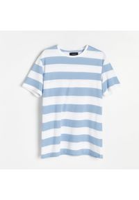 Biały t-shirt Reserved w paski