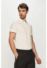 Biała koszulka polo Jack & Jones krótka, gładkie