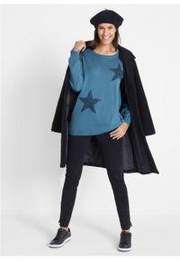 Niebieski sweter bonprix z długim rękawem, długi
