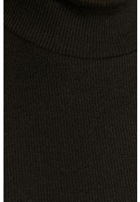 Czarna bluzka Pieces gładkie, casualowa, na co dzień