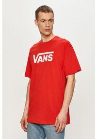 Vans - T-shirt. Okazja: na co dzień. Kolor: czerwony. Wzór: nadruk. Styl: casual