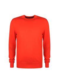 Sweter Calvin Klein z okrągłym kołnierzem, z aplikacjami