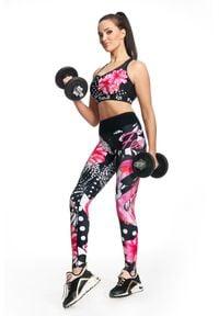 FJ! - Legginsy EXOTIC. Materiał: skóra, elastan, dzianina, poliester. Wzór: kolorowy. Sport: fitness