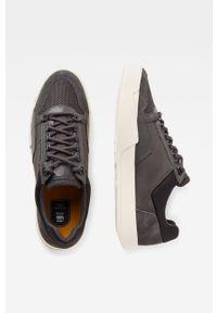Czarne sneakersy G-Star RAW z cholewką, z okrągłym noskiem