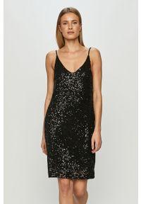Czarna sukienka Haily's na co dzień, na ramiączkach, mini, prosta