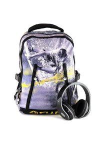 Cu.Be Plecak studencki , ze słuchawkami, żółty. Kolor: żółty. Styl: młodzieżowy