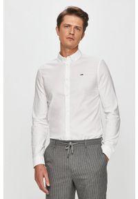 Biała koszula Tommy Jeans długa, button down, z długim rękawem
