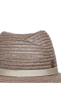 MAISON MICHEL PARIS - Beżowy kapelusz Virginie. Kolor: beżowy. Wzór: aplikacja. Sezon: lato. Styl: elegancki