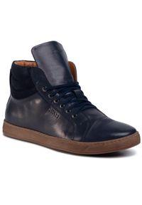 Sneakersy QUAZI - QZ-24-04-000725 607. Kolor: niebieski. Materiał: skóra. Szerokość cholewki: normalna