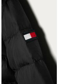 Czarna kurtka TOMMY HILFIGER z kapturem, na co dzień, casualowa