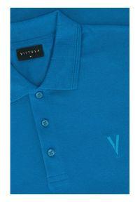 Vistula Polo Mike XA1280 Niebieski Regular Fit. Typ kołnierza: polo. Kolor: niebieski