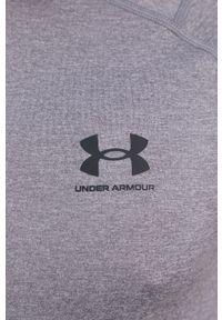 Under Armour - T-shirt. Okazja: na co dzień. Kolor: szary. Materiał: dzianina. Styl: casual