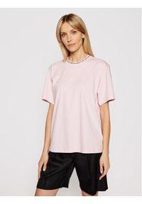 Różowy t-shirt Victoria Victoria Beckham