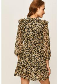 Answear Lab - Answear - Sukienka. Kolor: żółty