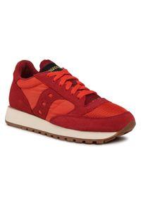 Czerwone buty sportowe Saucony z cholewką, na co dzień