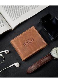 ALWAYS WILD - Portfel męski koniakowy Always Wild N0035-CHM-8717 COGNA. Materiał: skóra