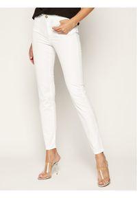 Białe jeansy slim Trussardi Jeans