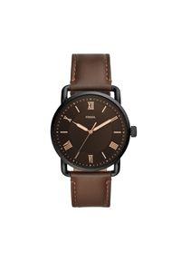 Brązowy zegarek Fossil biznesowy