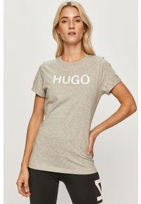 Szara bluzka Hugo casualowa, na co dzień